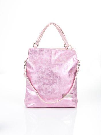 Różowa modułowa torba z odpinanym paskiem