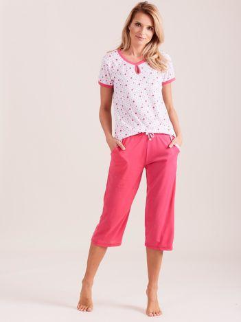 Różowa piżama damska w gwiazdki