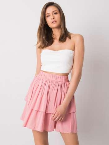 Różowa spódnica z falbaną Eden SUBLEVEL