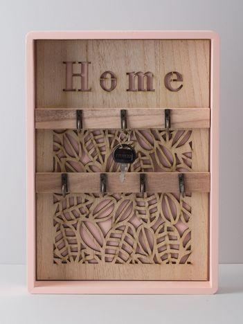 Różowa szafka na klucze