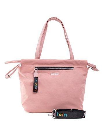 Różowa torba na ramię z odpinanym paskiem