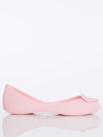 Różowe baleriny Melisy bez palców z ozdobnym sercem z przodu buta