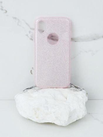 Różowe brokatowe etui do iPhone X