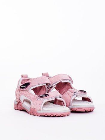 Różowe sandały dziecięce