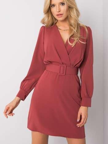 Różowo-brązowa sukienka Kelly
