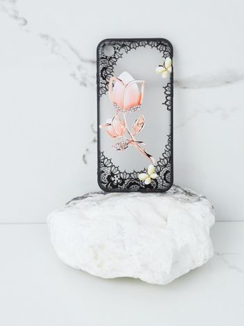 Różowo-czarne etui do iPhone 7G/8G