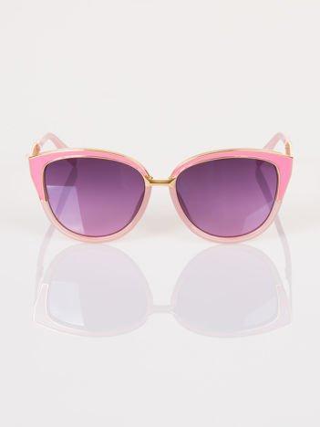 """Różowo-złote okulary przeciwsłoneczne """"KOCIE OCZY"""""""
