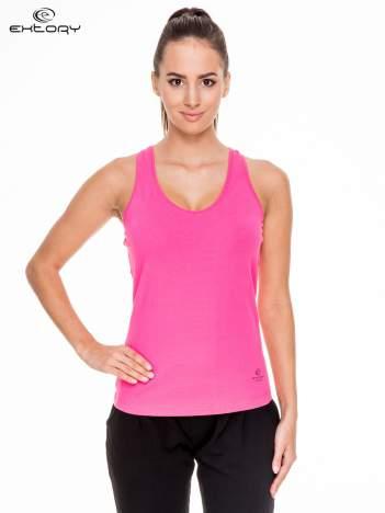 Różowy damski top sportowy bokserka