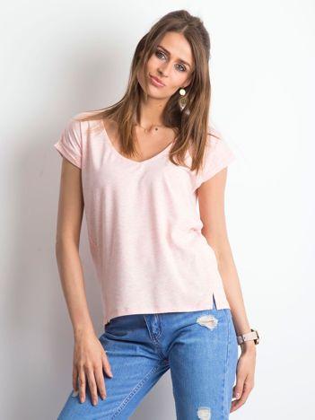 Różowy melanżowy t-shirt Vibes