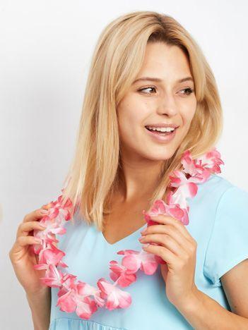 Różowy naszyjnik hawajski