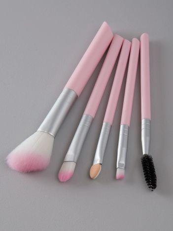 Różowy zestaw do makijażu
