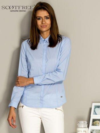 SCOTFREE Niebieska koszula damska w drobne paski