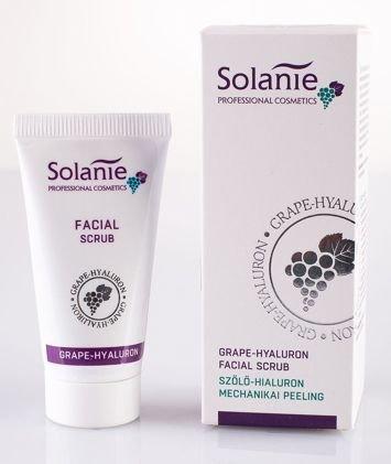 SOLANIE Profesjonalny peeling do twarzy z kwasem hialuronowym i winogronami 30 ml