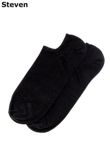 STEVEN Czarne gładkie stopki męskie