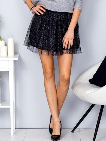 Spódnica mini czarna z błyszczącym wzorem