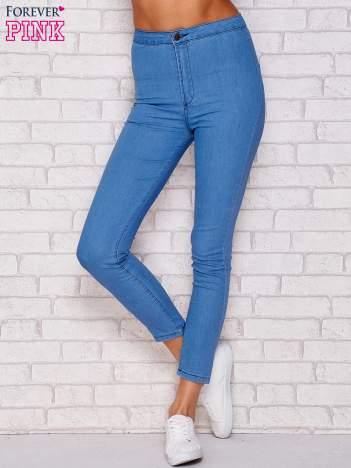 Spodnie jeansowe regular niebieskie