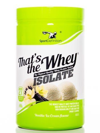 Sport Definition - Odżywka białkowa Thats the Whey Isolate Vanilla Ice Cream flavour 600g