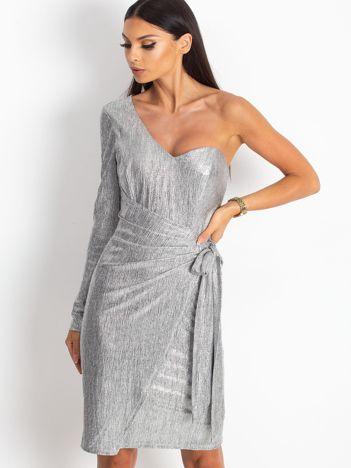 Srebrna sukienka Party