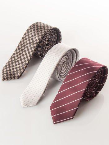Stylowe krawaty zestaw 3 szt.