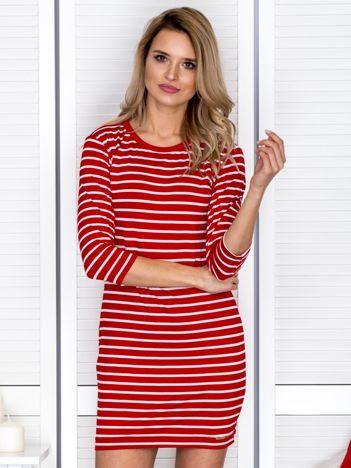 Sukienka czerwona w paski