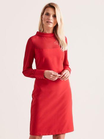 Sukienka ze stójką czerwona
