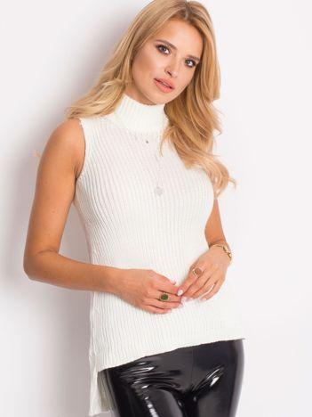 Sweter lace up ecru
