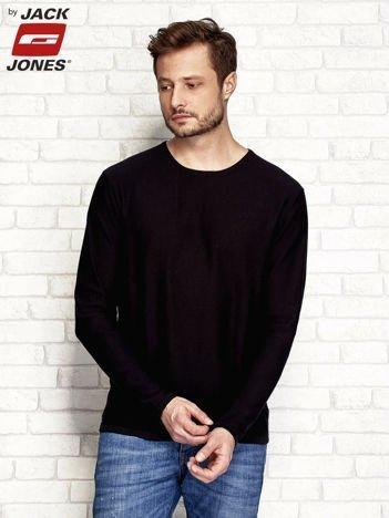 Sweter męski gładki czarny