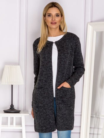 Sweter z wiązaniem z tyłu ciemnoszary