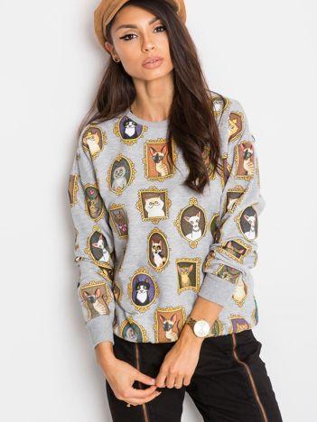 Szara bluza Kitten
