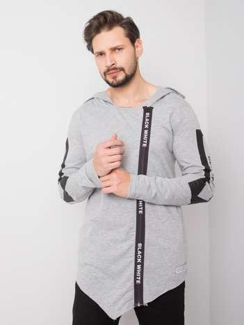 Szara bluza męska rozpinana Andy