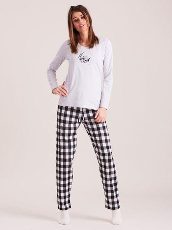 Szara piżama damska z bawełny