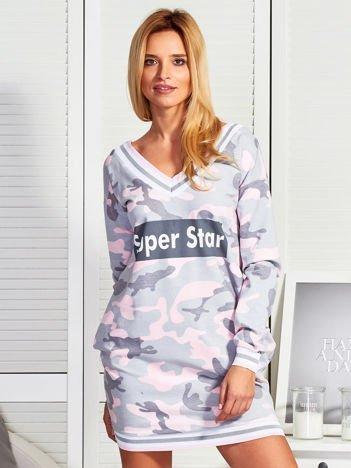 Szara sukienka moro SUPER STAR