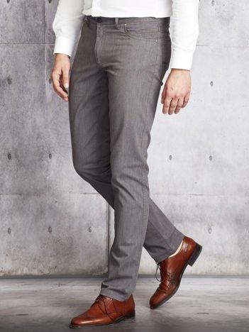Szare materiałowe spodnie męskie