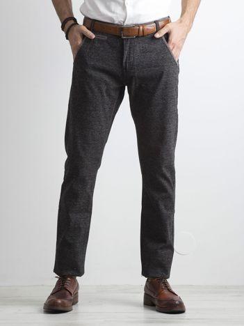 Szare melanżowe spodnie męskie regular