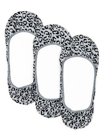 Szare skarpetki stopki w cętki