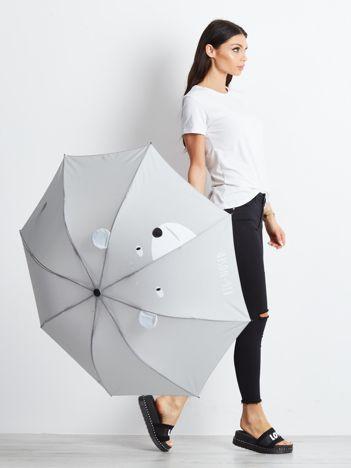 Szary mały parasol