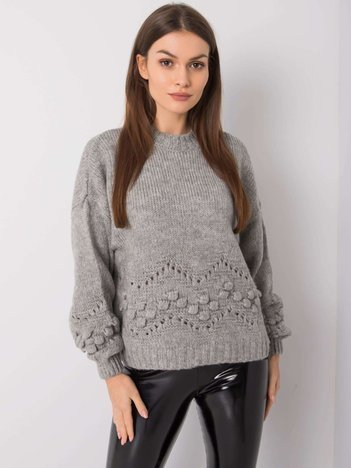 Szary sweter Adeline RUE PARIS
