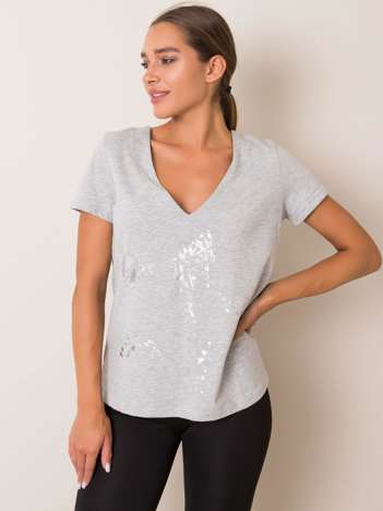 Szary t-shirt Marble FOR FITNESS