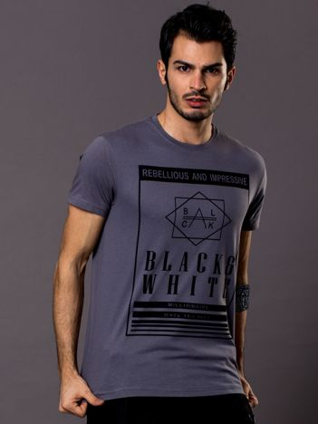 Szary t-shirt męski Rebellious