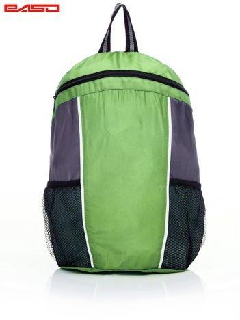 Szkolny plecak z siatkowymi kieszeniami zielony