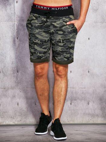 Szorty męskie w militarnym stylu khaki