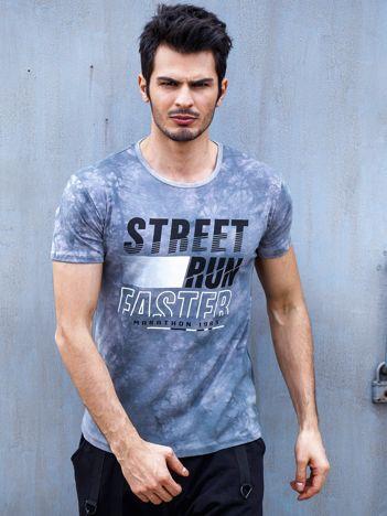 T-shirt męski szary Street Run