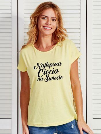 T-shirt żółty NAJLEPSZA CIOCIA NA ŚWIECIE