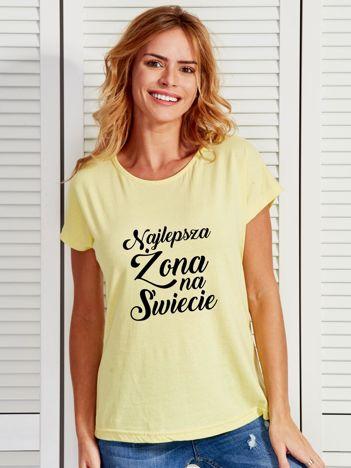 T-shirt żółty NAJLEPSZA ŻONA NA ŚWIECIE