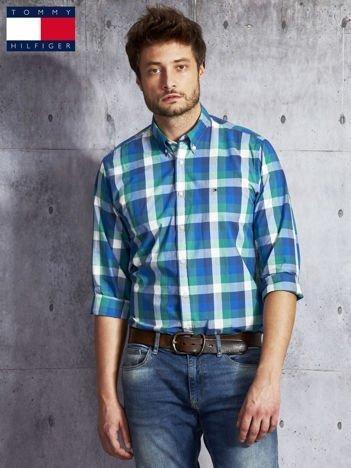 TOMMY HILFIGER Zielona koszula męska w kratę
