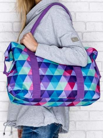 Torba na ramię w kolorowe trójkąty