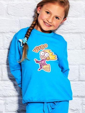 Turkusowa bluza dziecięca znak zodiaku PANNA