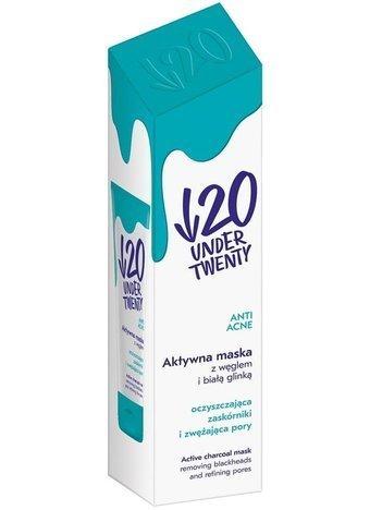 Under Twenty Aktywna maska oczyszczająca z węglem i białą glinką 50 ml