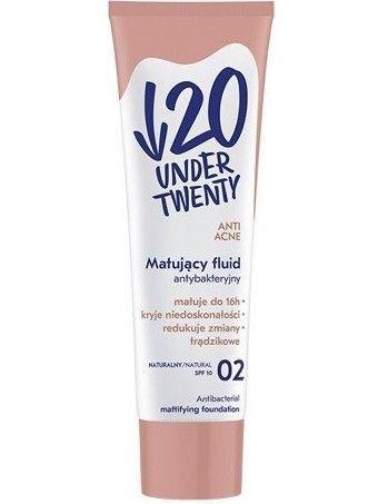 Under Twenty Matujący fluid antybakteryjny 02 naturalny 30 ml