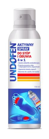 """Undofen Aktywny spray do stóp i obuwia 4w1  150ml"""""""
